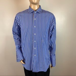 Brooks Brothers Blue White Striped Dress Shirt